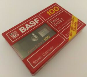 BASF FERRO EXTRA I 100  - 100 Minute  Audio Stereo Cassette Tape - NEW & SEALED