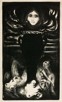 Edvard Munch The Urn Giclee Canvas Print Paintings Poster Reproduction