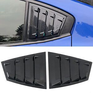for Subaru WRX STi 2015-2019 Carbon Fiber Rear Window Louvers Shutter Cover Trim