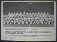 "1977 Detriot Lions 5x7"" B&W Team Photo Souvenir - with 25yr. old Bill Bellichick"