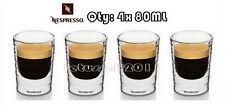 BRAND NEW NESPRESSO CITIZ DOUBLE WALL ESPRESSO GLASSES x4 80ML