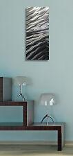 """""""Zest """" By Jon Allen Metal Abstract Modern Silver Wall Art Decor Sculpture"""