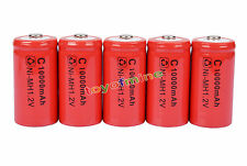 5 x C Rechargeable 1.2V Ni-MH 10000mAh Battery Cell RED
