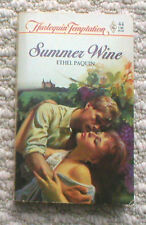 SIGNED/Autographed Harlequin Romance Book: SUMMER WINE, Paquin