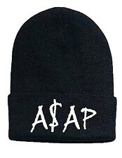 WHATEVER ASAP A$AP HAT (BLACK WITH WHITE LOGO)