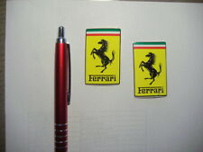 2  x  Aufkleber Sticker FERRARI Original Official  NEU 50 x 30 mm  Adhesivo