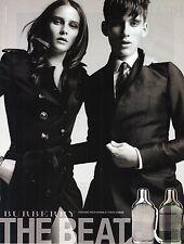 PUBLICITE ADVERTISING  2011   THE BEAT  le parful pour homme & femme BURBERRY