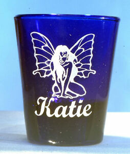 Fairy Shot Glass Personalized Engraving with name under design