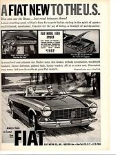 1963 FIAT 1500 SPIDER  ~  NICE ORIGINAL PRINT AD