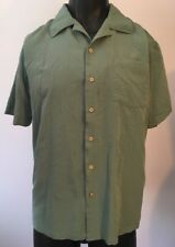 David Taylor Collection Short Sleeve, Green Dress Button-up Shirt Size L