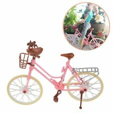 New Fashion Barbie Pink Bicycle Bike Toy For Dolls & Accessories