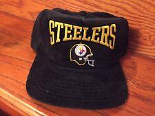 Deadstock Vintage Corduroy 80's NCAA Pittsburgh Steelers Snapback Hat Cap Snap