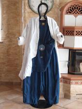 6016 LABASS Lagenlook Ballon Hose Schlitze EMILY Jeans Look dark blau XXL 52 54