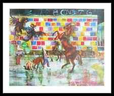 Daniel Richter Hotel Jugend Poster Bild Kunstdruck im Alu Rahmen schwarz 50x60cm