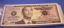 WHOLESALE LOT 100 OBAMA 2010 DOLLAR NOVELTY BILLS MONEY DEMOCRAT PRESIDENT USA