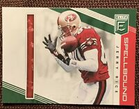 2019 Panini Donruss Elite Spellbound Green #SP-22 Jerry Rice Letter I 49ers