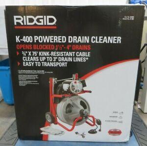 "Ridgid K-400 Powered Drain Cleaner  52363 Opens Blocked 1-1/2"" to 4"" Drains"