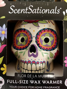 Scentsationals Day Of The Dead Wax Warmer Full Size Sugar Skull