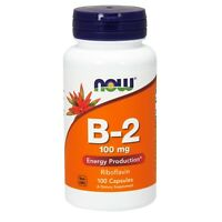 NOW Foods Vitamin B-2 (Riboflavin) 100 mg, 100 Capsules
