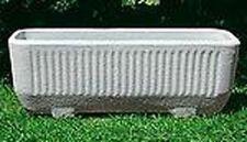 Vaso Cassetta Fioriera In Resina Color Pietra 98 cm Millerighe giardino esterno