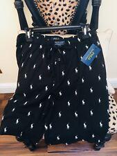 Nuevo Polo Ralph Lauren Negro Caballo Ecuestre Pijama Pantalones Cortos Talla M-L