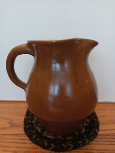 Vintage  Pottery Bybee KY Large Pitcher Hand Made Kentucky Autumn Brown