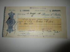1939 ETIOPIA ADDIS ABEBA BANCA ITALIA ASSEGNO-2 MARCHE BOLLO c.10 COL.ERITR-h851
