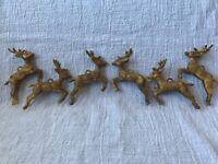 Vintage Rubber Reindeer Christmas Ornament Lot of 6 Reindeer Ornaments c. 1950s