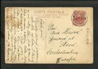JAPAN 1925 TO CZECHOSLOVAKIA (PLZEU) PCARD.CIRCULATED, FINE