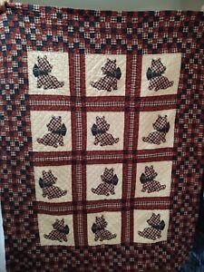 Scottie dog quilt