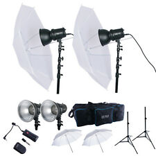 400W Strobe Flash Monolight Kit Photo Studio Photography Lighting with Carry Bag