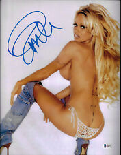 Pamela Anderson Signed 11x14 Photo - Pam Sexy Jean Boots Beckett BAS