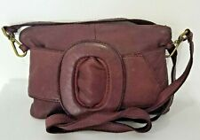 Italian wine exquisite nappa soft leather clutch & crossbody bagVittoria Pacini