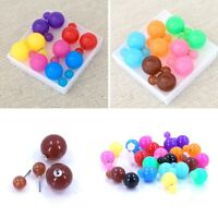 Double sided Ball Stud Earring - Jelly Colors
