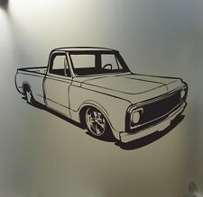 chevy c10 1967 68 69 70 lowered sticker pickup truck low stance car window decal