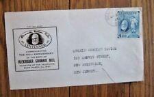 CANADA  TELEPHONE INVENTOR ALEXANDER GRAHAM BELL 1947 GROVER CACHET FDC