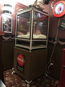 Antique Cretors Popcorn Machine With Clown Winding, & Stand - Restored.