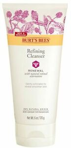 BURTS BEES RENEWAL REFINING CLEANSER 6oz Gently Exfoliates Smoother Skin