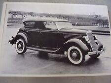 1935 FORD PHEATON TOP UP  12 X 18 LARGE PICTURE   PHOTO