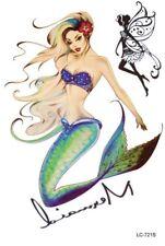 Vintage Mermaid Temporary Fairy Tattoo Rockabilly Pin Up
