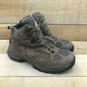 Vasque Mens Breeze Gore Tex 7466 Brown Leather Hiking Boots Lace Up Size 10.5 M