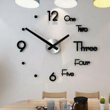 3D DIY Muro Wall Clock Orologio Da Parete Adesivo Decorazione Moderno Casa Home