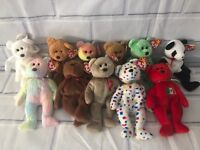 84dfb6b3975 Lot of 11 Ty Beanie Babies Assorted Bears with Tags 1990s 2000 New Various