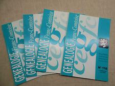LOT Généalogie Franc-Comtoise 4 Bulletins Année 2009 Complète Franche-Comté