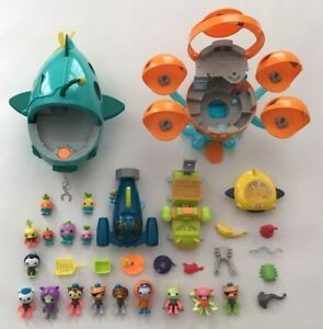 Octonauts Octopad Playset Midnight Zone Gup-A Submarine Figures Vehicles LOT