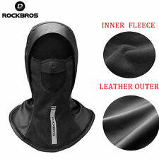 RockBros Bicycle Leather Thickened Thermal Cap Headgear Windproof Face Mask