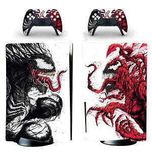 PS5 Standard Disc Digital Consoles Remote Skins Decals Howl Carnage Venom Marvel