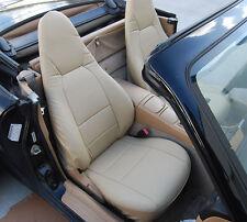 MAZDA MIATA 2001-2005 BEIGE VINYL CUSTOM MADE FIT FRONT SEAT COVERS