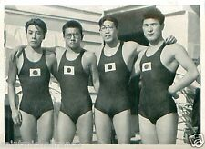 Japan Team Swimming Natation 4×200 m Freestyle Relay OLYMPIC GAMES 1936 CARD