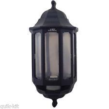 ASD HL/BK060P Half Lantern Wall Light with PIR Sensor - Black (FIN866)